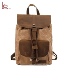 Mochila diaria de la lona de la mochila de encargo de alta calidad 2017