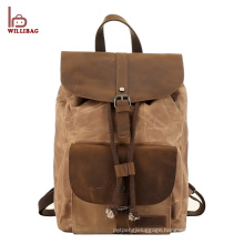 2017 High Quality Custom Daily Rucksack Canvas Backpack