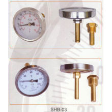 304ss Ring ±2% Hot Water Bimetal Thermometer For Solar Heating Systems