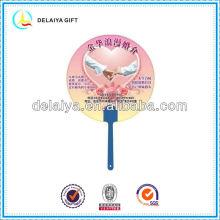 Round plastic hand fan