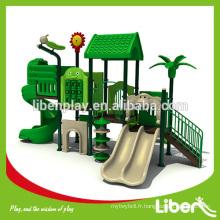 2014 Populaire Série de bois Playground Spiral Slide Kids Play LE.SL.002