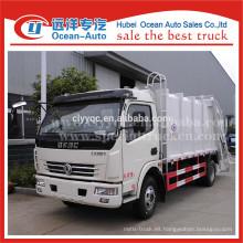 China fábrica dongfeng 8000L camión de basura compactador