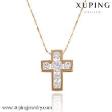 32279 Xuping charme moderno banhado a ouro pingente de cruz