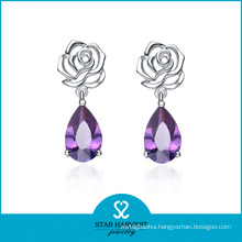 Silver Wedding Jewelry Direct Gemstone Earrings Factory Price (E-0081)