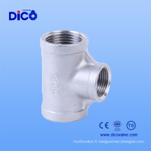 Fabriqué en Chine Casting Stainless Steel 3 Way Connector