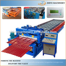 Double Layer Colored Steel Roofing Sheet Cold Forming Machine