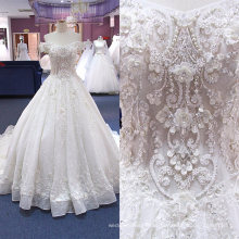 Vestido de casamento luxuoso muçulmano feito-à-medida 2017 de OEM / ODM China Wgf182