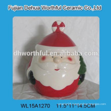 2016 Popular santa claus design ceramic storage jar
