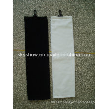 Black Golf Towel with Solid Color