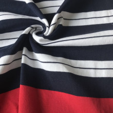 Pima cotton stripe knitting rib fashion garment fabric