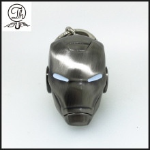 Porte-clés de casque Iron Man design antique