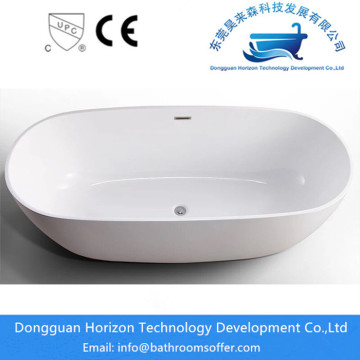 One piece bathers resin freestanding bathtub