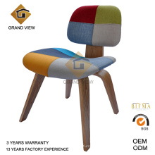 Tecido cinza madeira Eames Lounge jantando a cadeira (GV-DCW 006)