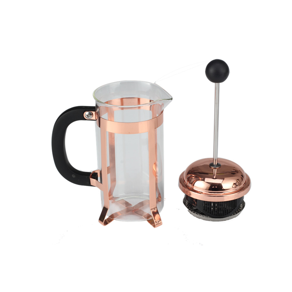Copper Frame French Press Stainless Steel Filter
