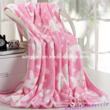 Printed Bobble Coral Fleece Blanket