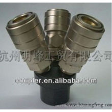 3 Way Quick Release Manifold Coupler for Asian