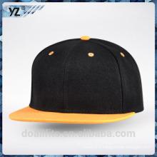 Costom snapack cap logo with flat brim bonne qualité