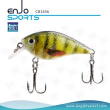 Angler Selecione Hard Bait Top Água Fishing Tackle Crank Bait com Vmc Treble Hooks (CB1656)