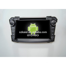 Quad core!car dvd with mirror link/DVR/TPMS/OBD2 for 7inch touch screen quad core 4.4 Android system Hyundai I40