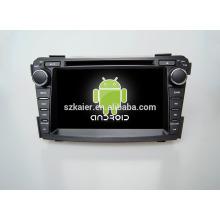 Quad core! Dvd do carro com link espelho / DVR / TPMS / OBD2 para 7 polegadas tela sensível ao toque quad core 4.4 sistema Android Hyundai I40