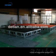 Escenario de aluminio al aire libre de la etapa del concierto Estribo de aluminio del escenario de la etapa de concierto al aire libre