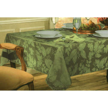Green Color Jacquard Table Cover St114