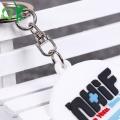 Silikon Schlüsselanhänger Prägung Runde Form Andenken Schlüsselanhänger