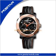 Vintage Limited Edition Natürliche Marmor Uhr Zifferblatt Armbanduhr