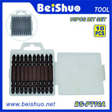 10PC Chrome Plated Double Head Screwdriver Bits
