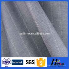 Vente chaude solide couleur 65% polyester 35% viscose twill tissu textile adaptable