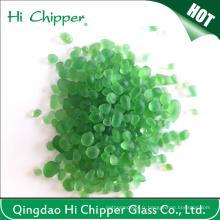 Perles de verre décoratives à la piscine couleur verte
