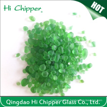 Green Colored Swimming Pool Decorative Glass Beads