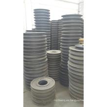 Polea de correa de gran diámetro de acero fundido de tamaños estándar
