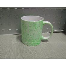 11oz White Mug with Neon DOT