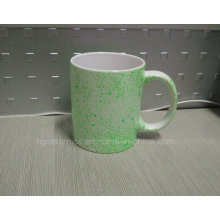 11oz White Mug with Neon DOT