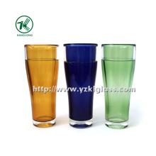 Натуральные цветные стеклянные бутылки (7.5 * 7.5 * 18)