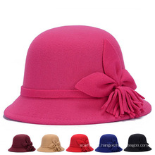 Lady Fashion Flower Cotton Knittted Winter Bucket Hats (YKY3245)
