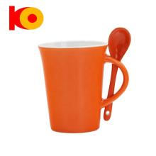 Food grade personalized coffee mug with spoon
