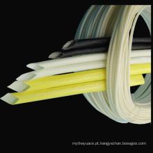 Isole os tubos revestidos do protetor do fio da luva da fibra de vidro do silicone
