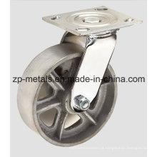 Rodízio de ferro fundido de giro de 4 polegadas para serviços pesados