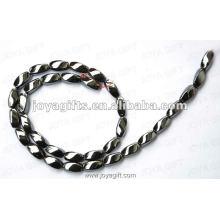"5x11MM Loose Magnetic Hematite Twist Beads 16"""