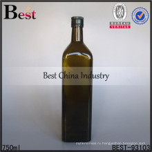 750 мл зеленый стеклянная бутылка с двойной крышкой для вина