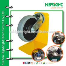diamenter 100cm durable rubber castors for shopping trolley cart