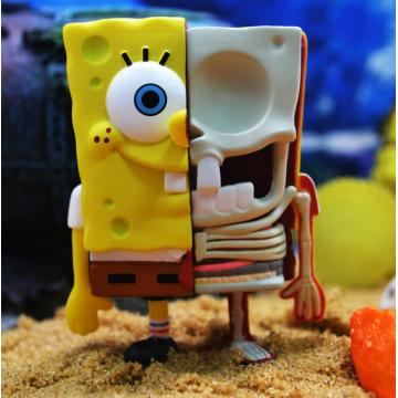 Bob Esponja Calça Quadrada Anatômica Box Blind Box Toys Série 1
