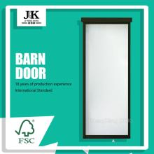 JHK-G01 Modern Home Wood Glass Door Design Barn Doors