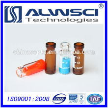 Flacon transparent hplc de 1 litre de 1,8 ml avec des récipients d'écriture sur verre spot pour un agilent