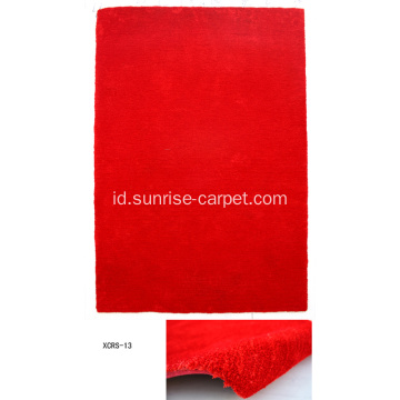 Microfiber dengan Polyester Carpet with Short Pile