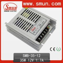 Fuente de alimentación de conmutación de caja plástica ultra fina de 35W 12VDC 3A