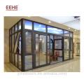 Дом из многослойного стекла отдельно стоящий солярий