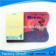 custom sticky fridge magnetic memo pad